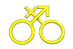 Male and female sex symbols Stock Photo