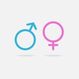 Male and female sexual orientation icon Royalty Free Stock Photography