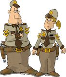 Male & Female Sheriff Royalty Free Stock Images