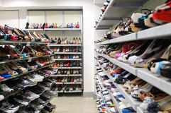 Male and female shoes Stock Photos