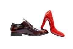 Male&female shoes-4 стоковые изображения