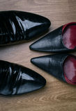 Male and female shoes Royalty Free Stock Photography