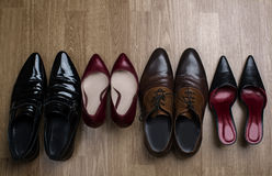 Male and female shoes Royalty Free Stock Image