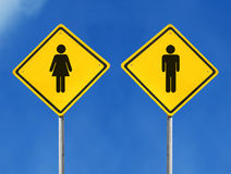 Male and female sign Stock Images