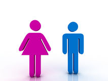Male and female sign Royalty Free Stock Images
