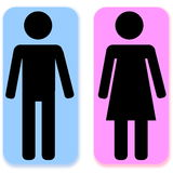 Male and female sign Stock Image