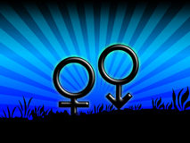 Male female sign Royalty Free Stock Photography