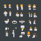 Male and  female sign with toilet icon set Royalty Free Stock Photos