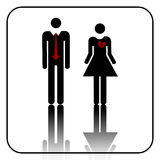 Male and female sign vector Stock Images