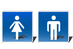 Male and female signs Stock Photo