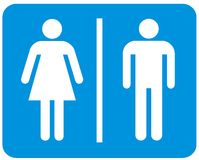 Male and female signs Stock Image