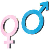 Male and female signs Royalty Free Stock Images