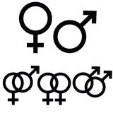 Male and female signs Stock Images