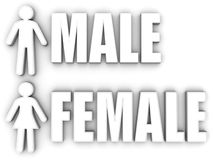 Male and female. Signs Royalty Free Stock Images