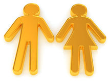 Male and female. Signs Royalty Free Stock Photography