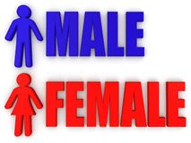 Male and female. Signs royalty free illustration
