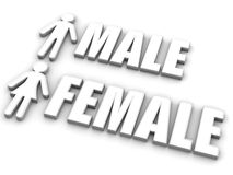 Male and female. Signs Royalty Free Stock Photos