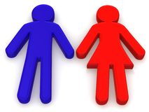 Male and female. Signs Stock Photography