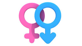 Male and female signs rotate Royalty Free Stock Photography
