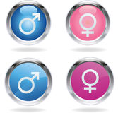 Male and female signs Royalty Free Stock Photography