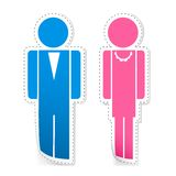 Male and Female Stickers Stock Photo