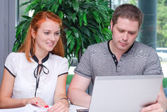 Male and female students Royalty Free Stock Images
