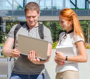 Male and female students Royalty Free Stock Image
