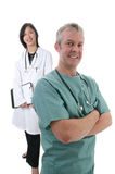 Male/female  Surgeon/Doctor team Royalty Free Stock Photography