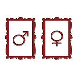 MALE AND FEMALE SYMBOL Stock Image