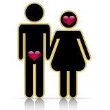 Male-female symbol of love Stock Photos