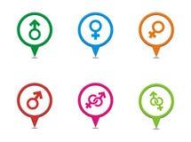 Male female symbol pointers vector illustration