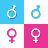 Male and female symbol. Stock vector Royalty Free Stock Photos