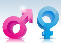 Male female symbol. Vector illustration background Royalty Free Stock Photography