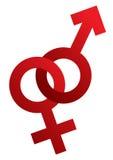 Male and female symbols Stock Image