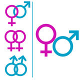 Male and female symbols Royalty Free Stock Image