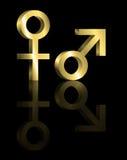 Male and female symbols. Stock Image
