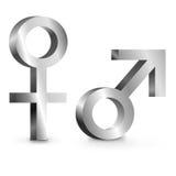 Male and female symbols. stock illustration