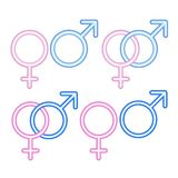 Male and  female symbols. Royalty Free Stock Photos