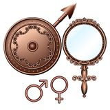 Male and  female symbols. Stock Photo