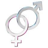 Male & Female symbols royalty free illustration