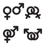 Male and female symbols combination Royalty Free Stock Photography