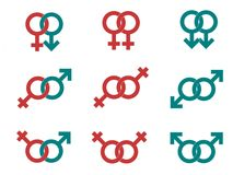 Male and female symbols royalty free illustration
