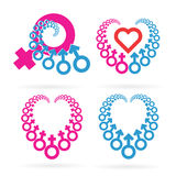 Male and Female Symbols Set Stock Image