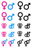 Male and female symbols. Simple iluustration of male and female symbols Stock Photo