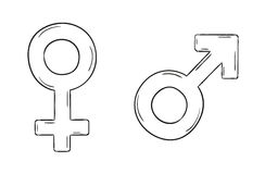 Male and female symbols Royalty Free Stock Photography