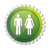 Male and female tag Stock Image