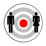 Male and female targeted Stock Photo
