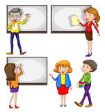 Male and female teachers Royalty Free Stock Images