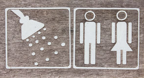 Male and female Toilet sign Royalty Free Stock Image
