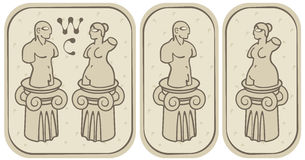 Male and female toilets vector illustration